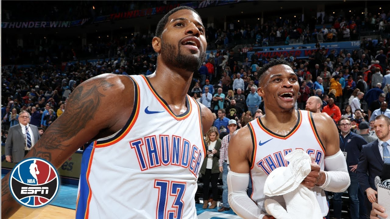 Paul George scores 47, Russell Westbrook sets NBA record in Thunder victory | NBA Highlights