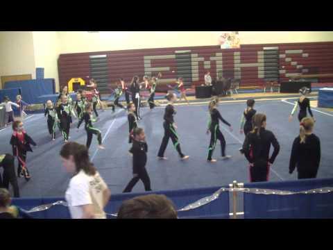 Rockstar Invitational (01-29-12)  Roanoke Academy Gymnastics Novice Team Warm-Up