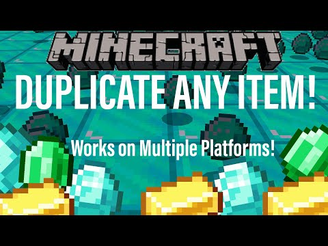 3 *NEW* Minecraft DUPLICATION GLITCHES for ANY ITEM! Village and Pillage 1.14.4 Xbox PS4 PC BEDROCK