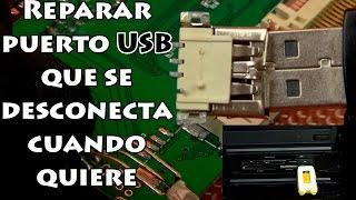 vuclip 🔧 Reparar puerto USB tipo A hembra, que funciona cuando quiere