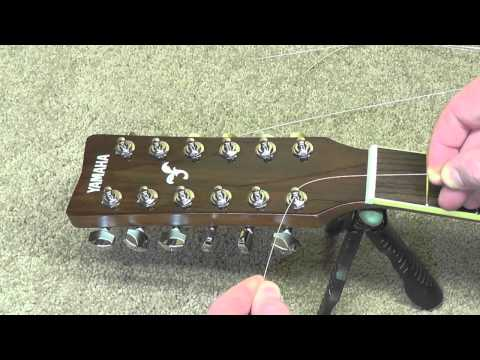 How to Restring a 12-String Guitar (and fix a cracked bridge)