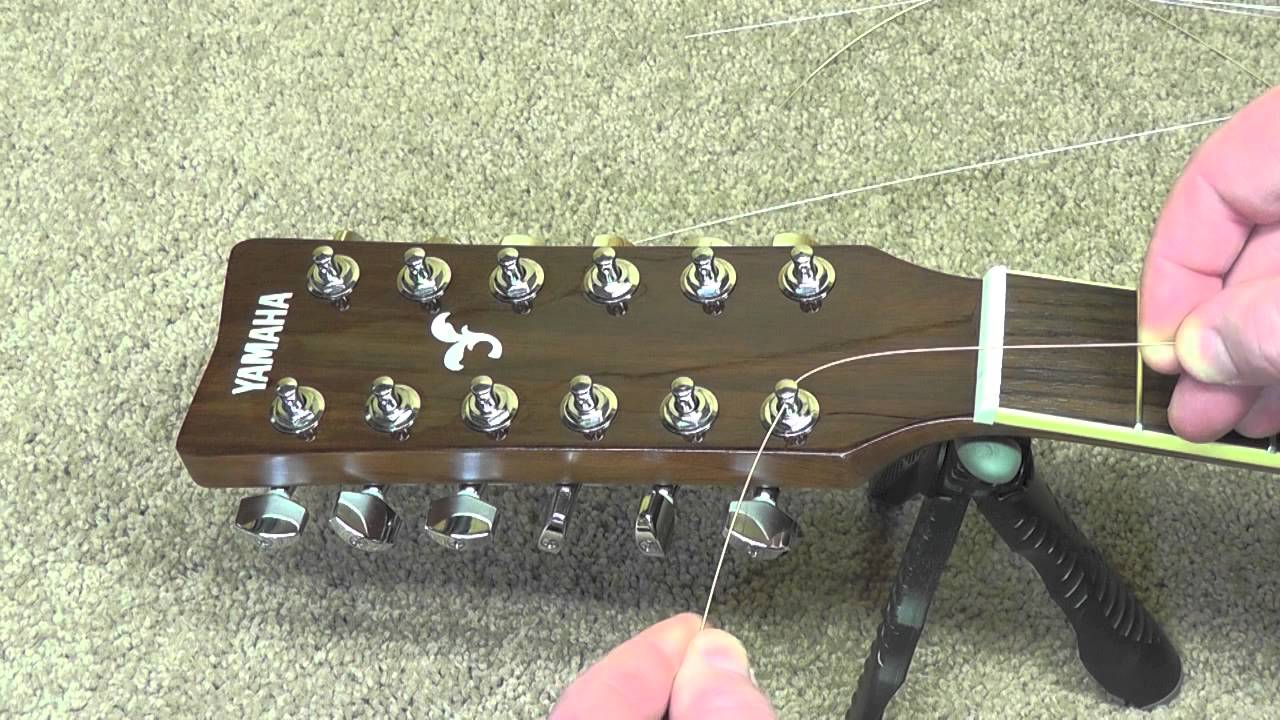 how to restring a 12 string guitar and fix a cracked bridge youtube. Black Bedroom Furniture Sets. Home Design Ideas