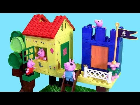 Peppa Pig Treehouse Lego Blocks Playset