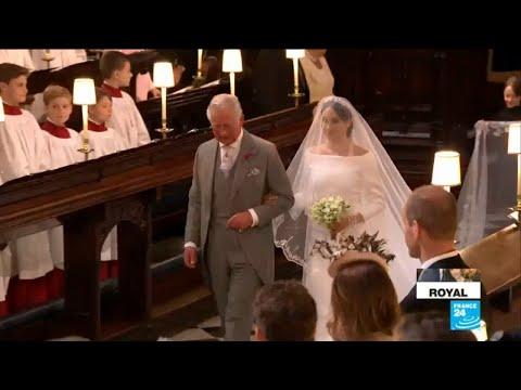 UK Royal Wedding: Bride Meghan Markle walks down the aisle