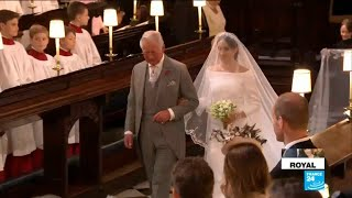 UK Royal Wedding: Bride Meghan Markle walks down the aisle