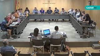 Ajuntament de Calafell: sessió plenària extraordinària, 3 d'octubre de 2018