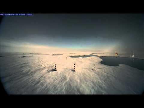 Polar bear encounter for drifting north pole webcam