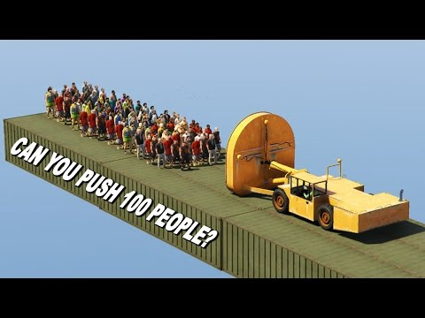 CAN YOU PUSH 100 PEOPLE IN GTA 5?