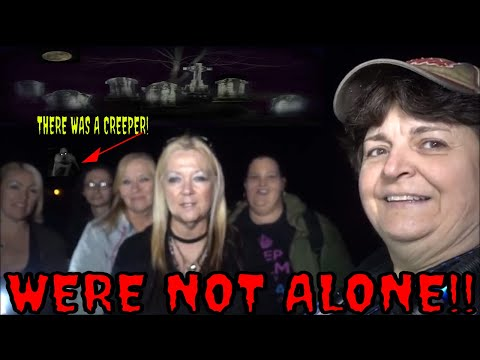 6 WOMEN IN A CEMETERY ALL ALONE  (SOMETHING COMES AFTER ONE OF US) !!