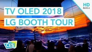 LG TV OLED 2018 CON PROCESSORE ALPHA 9 | TOUR CES 2018