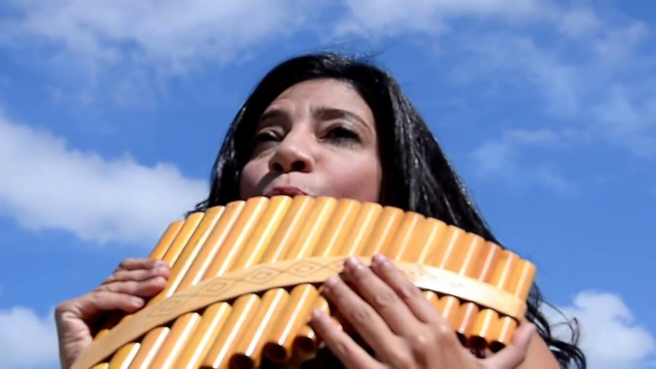 the only female pan flute player in middle east - dancing pan flutist - YouTube