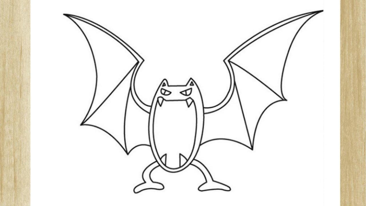 Como Desenhar O Pokemon Golbat How To Draw Golbat Pokemon