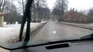 Jurmala winter driving  WTF
