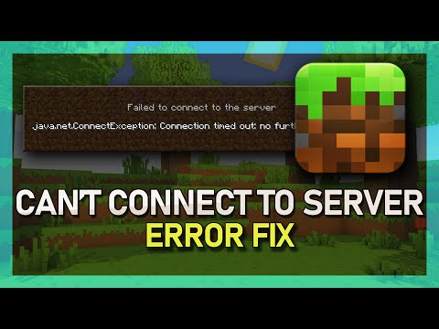 """How To Fix """"Can't Connect To Server"""" & """"Connection Timed Out"""" - Minecraft Server Error - 2019"""