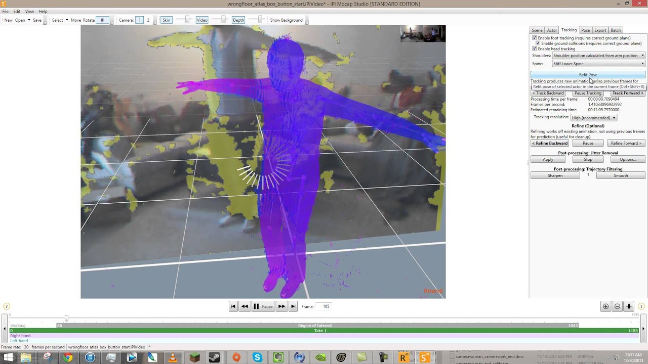 Low cost motion capture - 2D and 3D Art - GameDev net