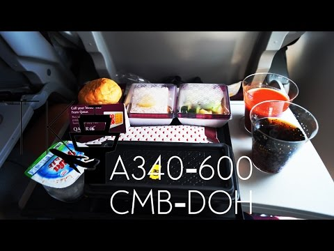 TRIP REPORT | Qatar Airways Airbus A340-600 (Economy Class) | Colombo-Doha QR665