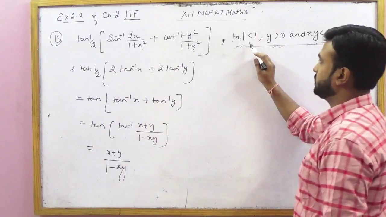 NCERT 12 Math's Ex 2 2 Ch 2 Inverse Trigonometric Functions hints &  solutions (Part 2)