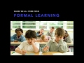 The difference between formal learning and Making -  Edutech 2016