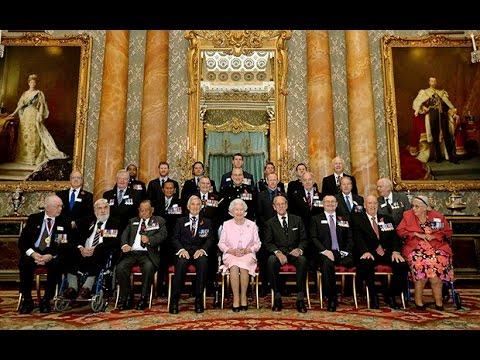 Queen hosts reception for Victoria Cross heroes