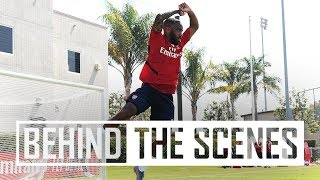 👀 Behind the scenes at our first LA training session   Arsenal in USA 2019