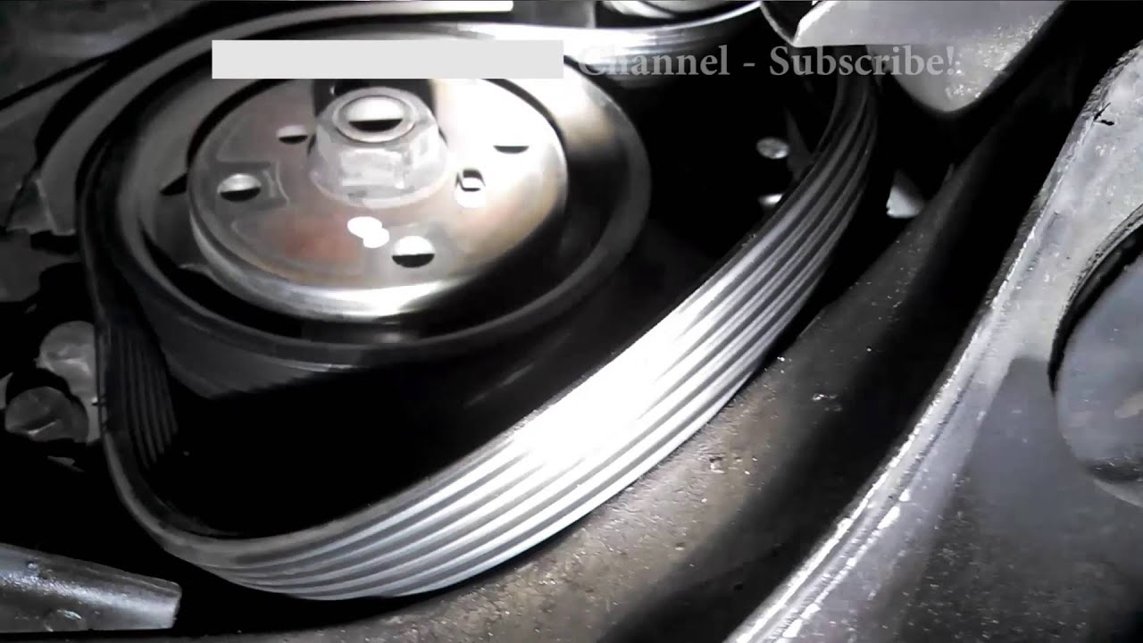 serpentine belt replacement 1999 2006 volvo s80 install remove replace [ 1280 x 720 Pixel ]