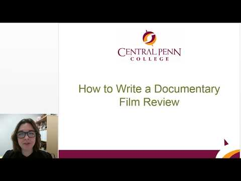 How To Write A Documentary Film Review