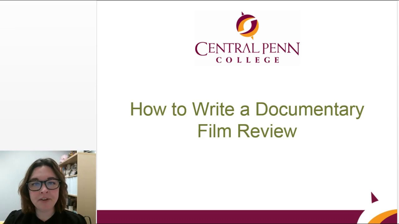 how to write a movie review for college