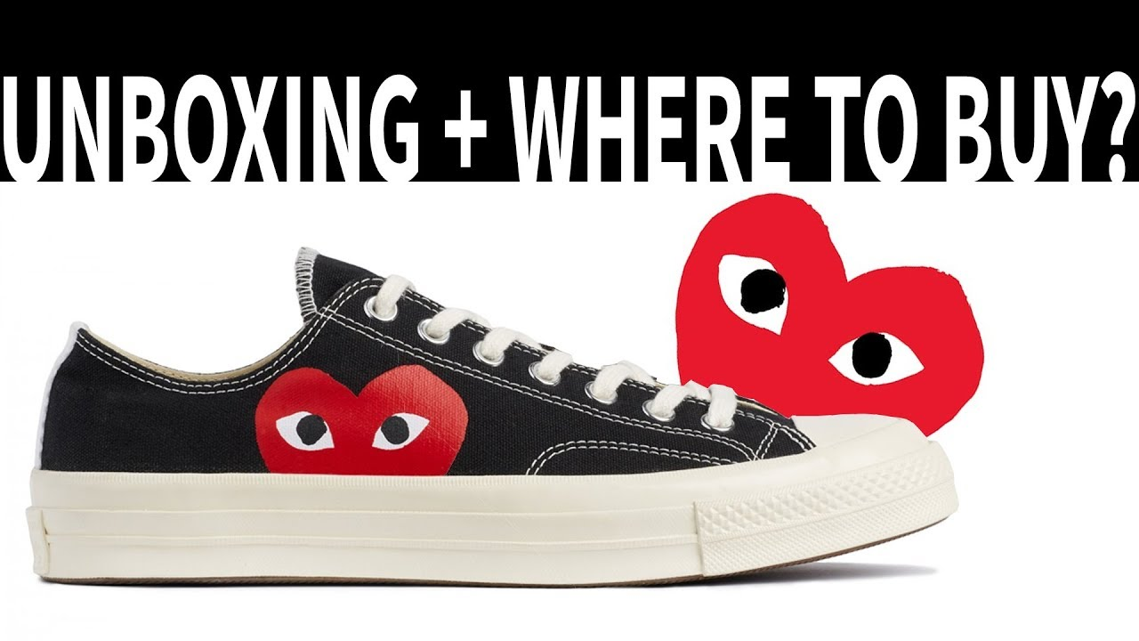 CDG PLAY x CONVERSE | Pickup + On Foot - YouTube