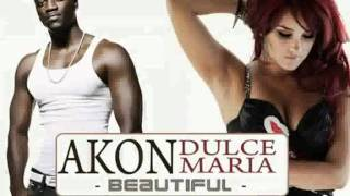Akon - Beautiful (Feat. Dulce Maria) (with lyrics) - HD