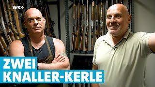 Die Knaller-Kerle: Zwei Waffen-Brüder zum Schießen | Mensch Leute | SWR Fernsehen lz