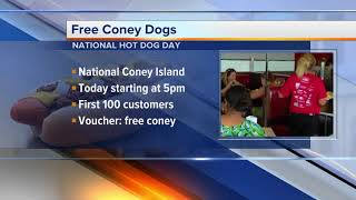 National Coney Island is giving away free hot dogs for National Hot Dog Day