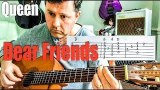 Queen - Dear Friends - Guitar Cover (Guitar Tab)