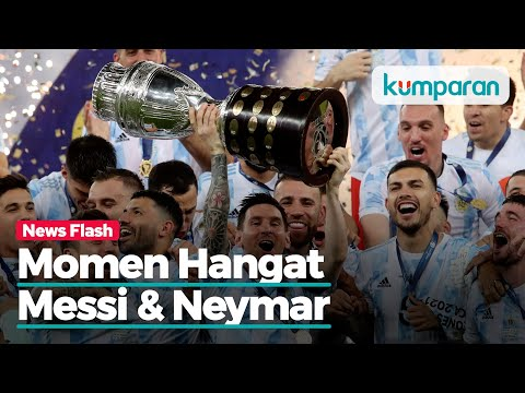 Momen Hangat Lionel Messi - Neymar Usai Final Copa America 2021, Penuh Haru Dan Tawa