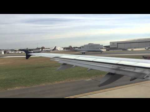 Airbus Taking off from Charlotte Douglas International Airport CLT