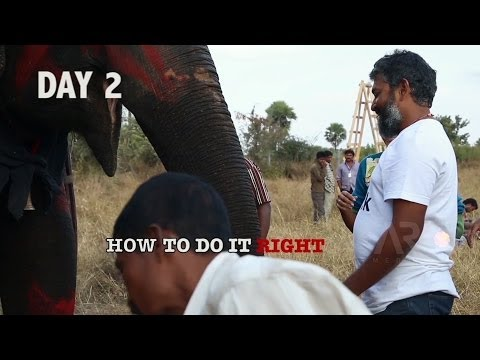 Baahubali @SETera - How to climb an elephant ? Travel Video