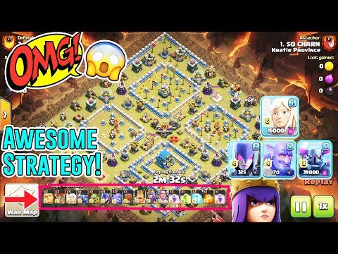 OMG!! AWESOME STRATEGY ATTACK - QW+BOWLER WITCH PEKKA SMASH TH12 3-STAR ( Clash of Clans )