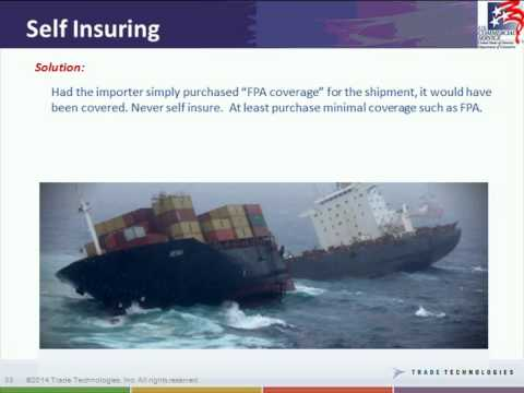 """Department of Commerce and Trade Technologies Webinar Series: Cargo Insurance"" Webinar"