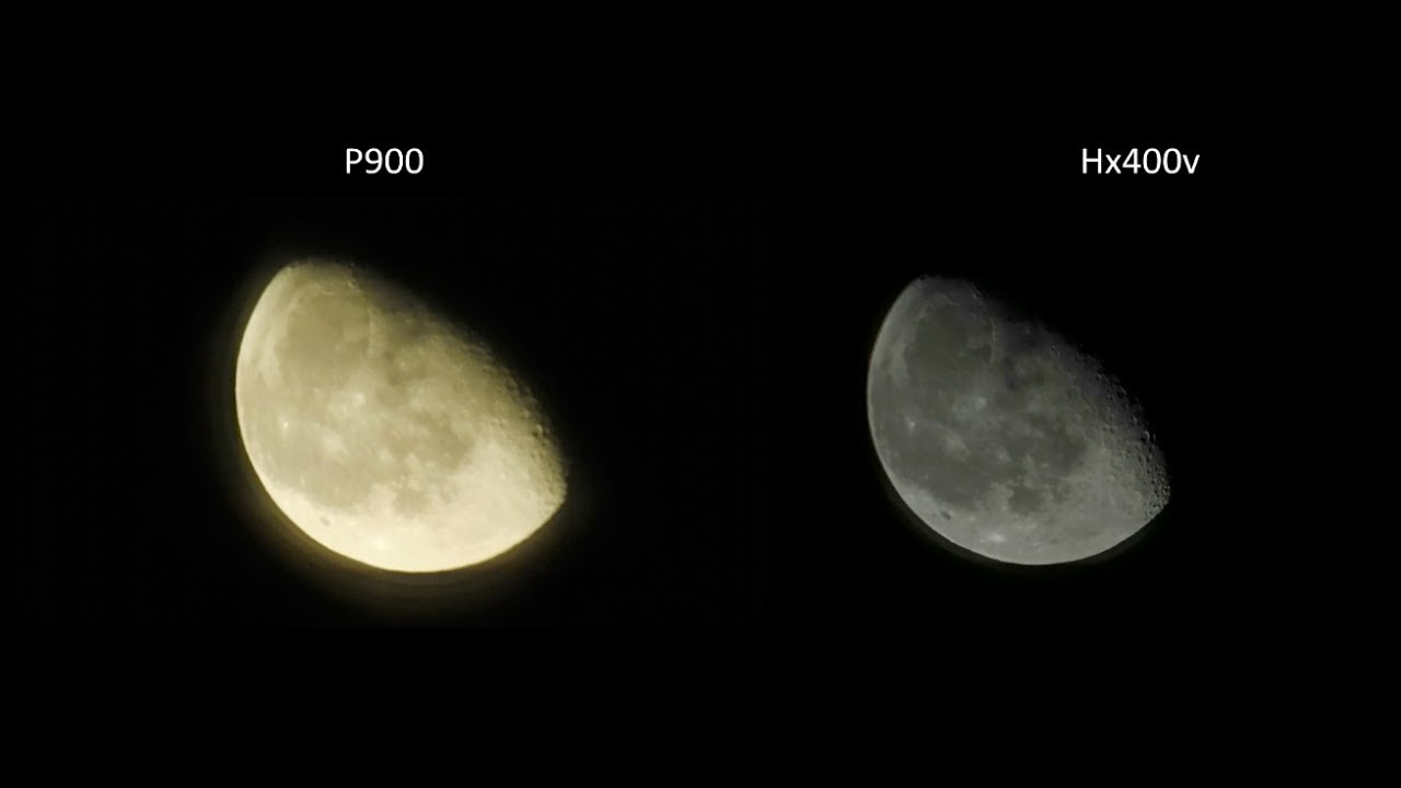 Nikon P900 vs Sony Hx400v |MOON ZOOM TEST - YouTube