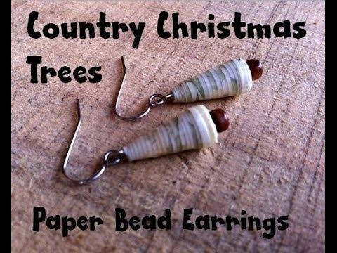 How To Make Paper Bead Christmas Tree Earrings YouTube - Make Christmas Tree Earrings
