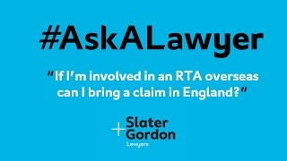 If I'm Involved in a Road Traffic Accident Overseas Can I Bring a Claim in England?