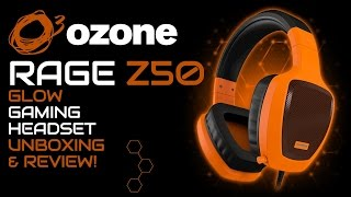 Ozone Rage Z50 Glow Gaming Headset Unboxing, Review & Microphone Test!