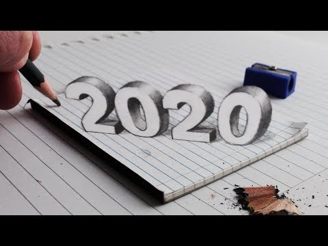 How to Draw 2020, 3D Trick Art