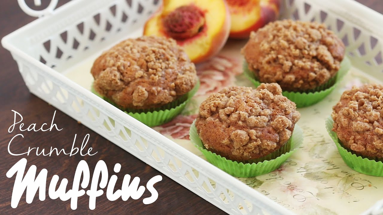 Peach Crumble Muffins Recipe