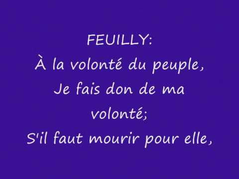 1-18 A la volonté du peuple Les Misérables with Lyrics
