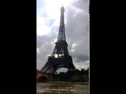 Rolling down the river Seine.
