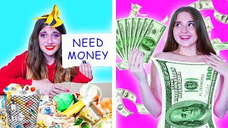 Rich Unlucky Girl VS Broke Lucky Girl || Funny Situations With Friends