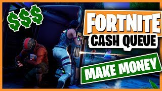 CASH QUEUE | NEW FORTNITE GAME SHOW | $$$ MAKE MONEY $$$ (#1)