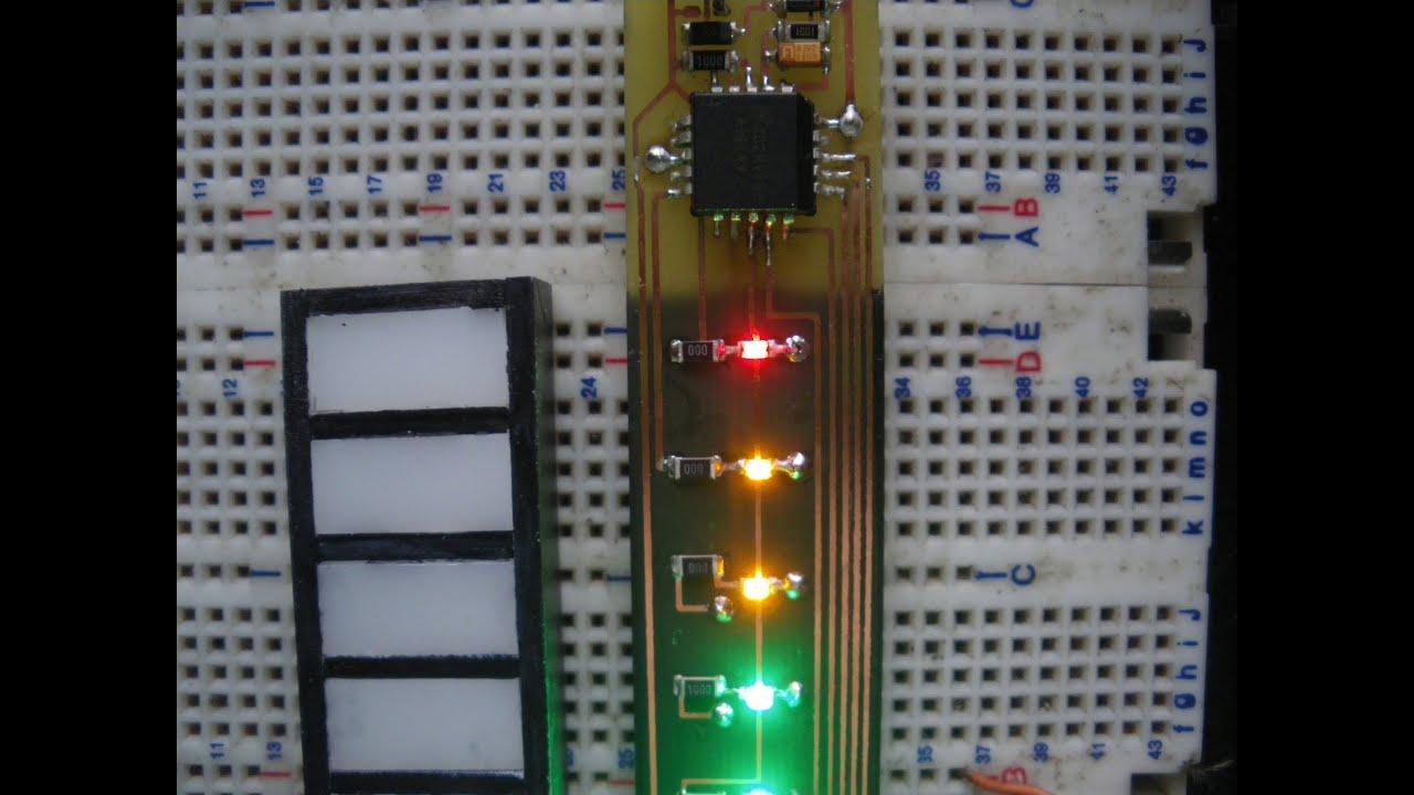 Vu Meter Lm3914 Level Led Bar Graph Mtre Basic Circuit For Barre Graphe Youtube