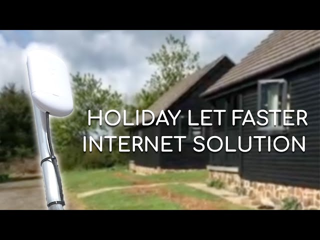 A WCT holiday let faster internet solution.