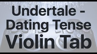 Learn Undertale - Dating Tense on Violin - How to Play Tutorial